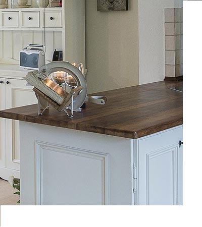 Echtholzarbeitsplatte Winkelküche