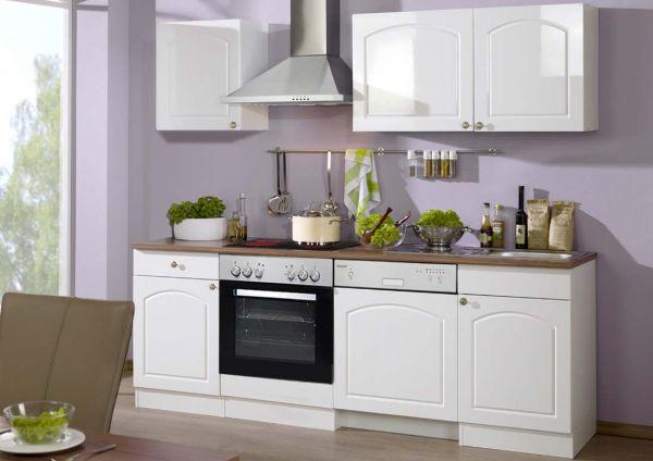 Einbauküche Landhausstil mit Spülmaschine weiß