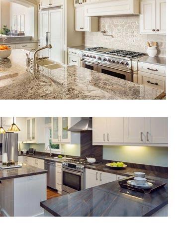 Küchenarbeitsplatten aus Granit und Beton