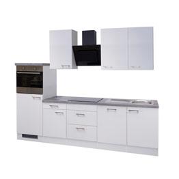 Küchenblock Hochglanz weiß