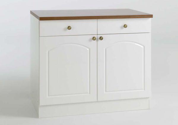 Moderner Küchen Unterschrank 100 cm in Weiß | kuechen.com