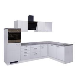 Winkelküche Hochglanz weiß