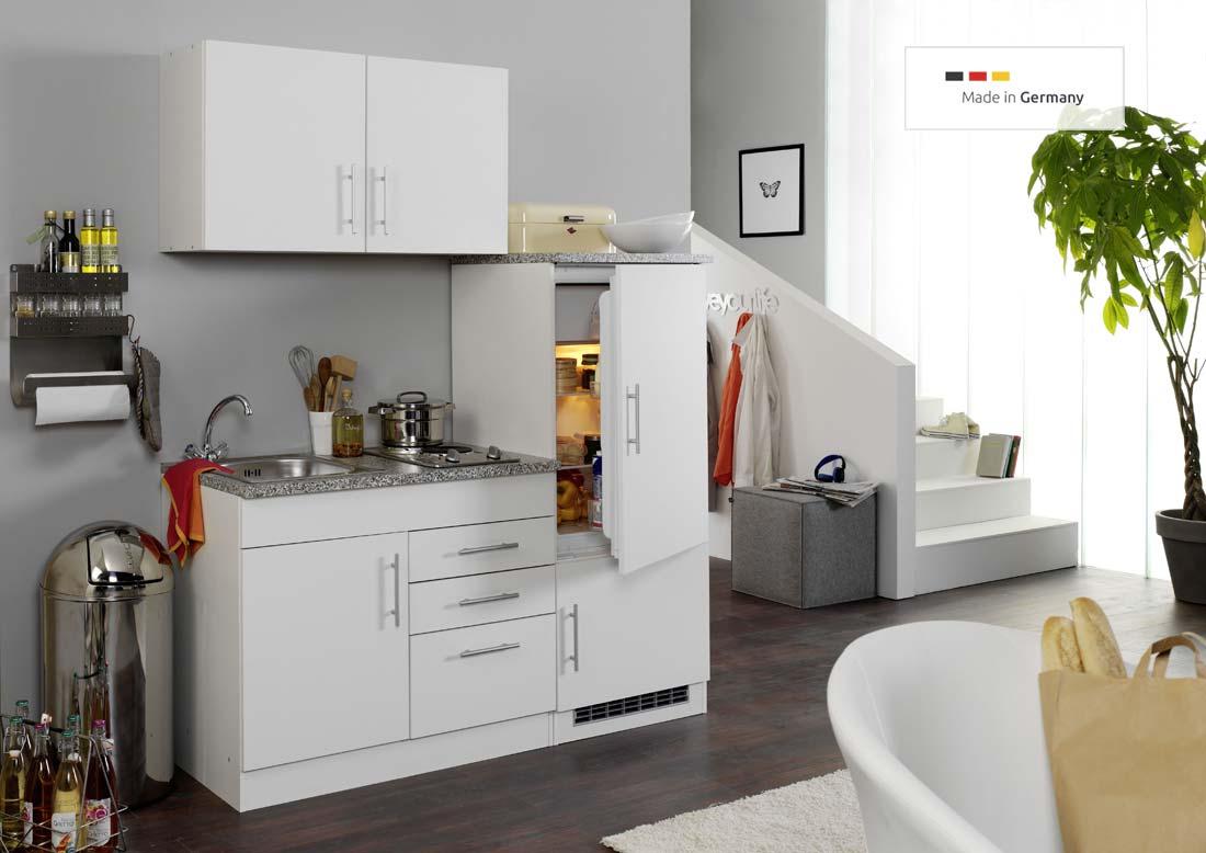Kühlschrank 160 Cm : single k che 160 cm wei mit einbauk hlschrank und sp lschrank ~ A.2002-acura-tl-radio.info Haus und Dekorationen
