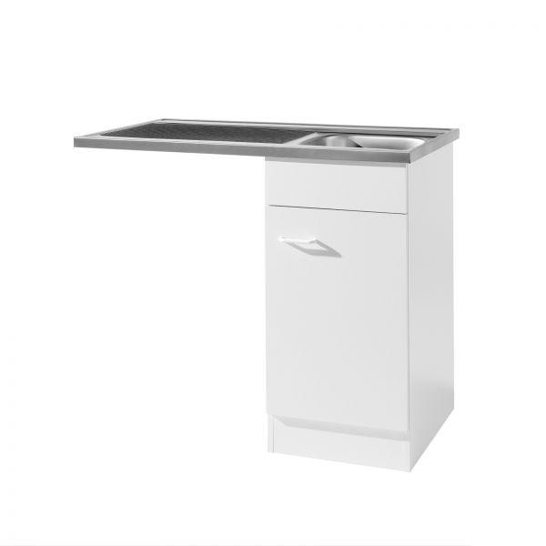 Spülzentrum für Küche 100 cm in Weiß