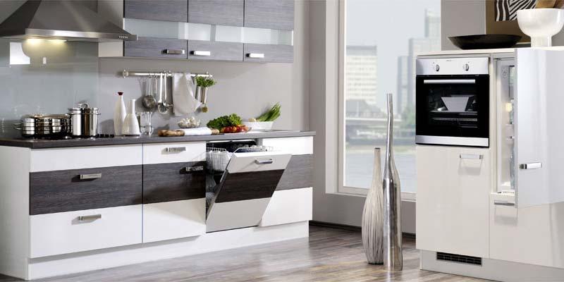 Design Küche mit Spülmaschine und hochwertigen Fronten