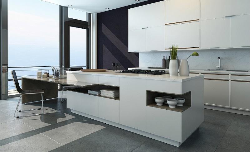 Küchendesign Hochwertige Küche Mit Kochinsel In Weiß